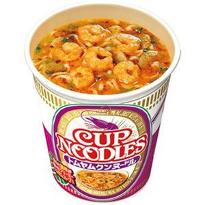 (まとめ)日清食品 カップ ヌードルトムヤムクンヌードル 75g 1ケース(12食)【×4セット】 - 拡大画像