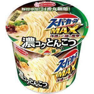(まとめ)エースコック スーパーカップ MAX濃コクとんこつ 120g 1ケース(12食)【×4セット】 - 拡大画像