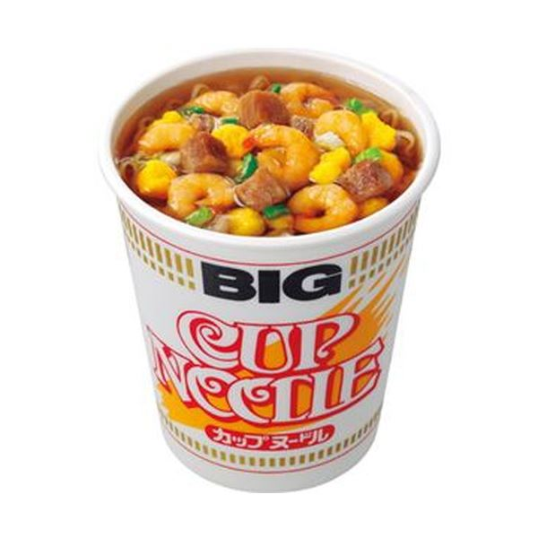 (まとめ)日清食品 カップ ヌードル ビッグ100g 1ケース(12食)【×4セット】