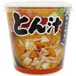 (まとめ)神州一味噌 おいしいね!!とん汁カップ 59g 1セット(18食:6食×3ケース)【×5セット】