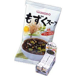 (まとめ)アサヒグループ食品 WAKODOもずくスープ 3.6g 1箱(20食)【×5セット】 - 拡大画像