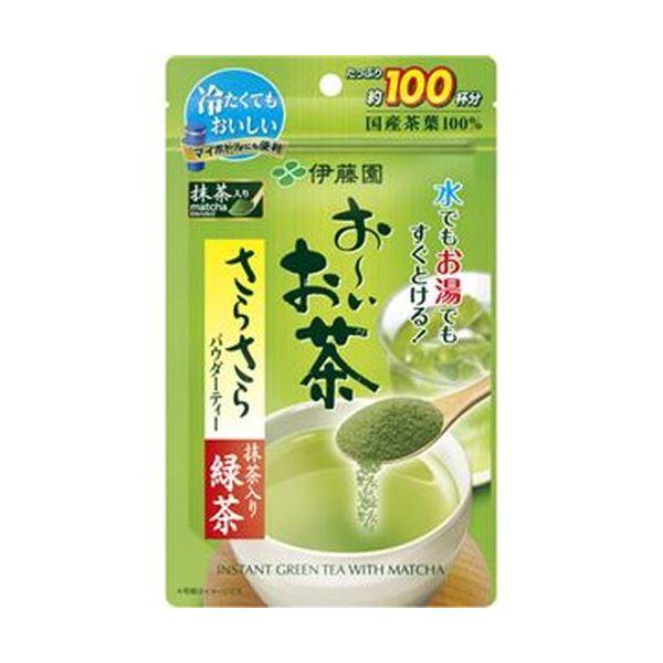 (まとめ)伊藤園 おーいお茶 さらさら抹茶入り緑茶80g/パック 1セット(3パック)【×5セット】