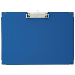 (まとめ)TANOSEE 用箋挟 A5ヨコ ブルー 1セット(20枚)【×3セット】 - 拡大画像
