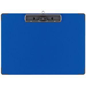 (まとめ)コクヨ 用箋挟B(クロス貼り)カラーA4ヨコ 青 ヨハ-C23B 1セット(10枚)【×3セット】 - 拡大画像