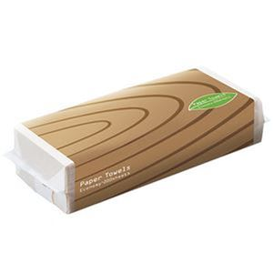 (まとめ)TANOSEE ペーパータオルアースカラー(エコノミー)200枚/パック 1セット(42パック)【×3セット】 - 拡大画像