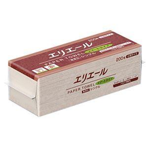 (まとめ)大王製紙 エリエールペーパータオルスマートタイプ 無漂白シングル 小判 200枚/パック 1セット(42パック)【×3セット】 - 拡大画像