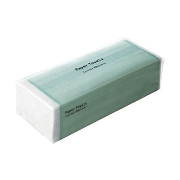 (まとめ)TANOSEE ペーパータオル ハードタイプ(エコノミー)200枚/パック 1ケース(42パック)【×3セット】