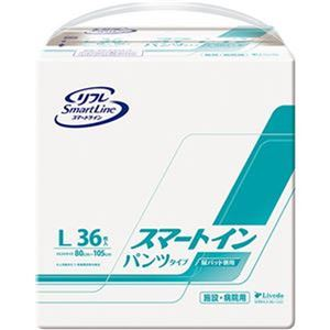 (まとめ)リブドゥコーポレーション リフレスマートイン パンツタイプ L 1パック(36枚)【×3セット】 - 拡大画像