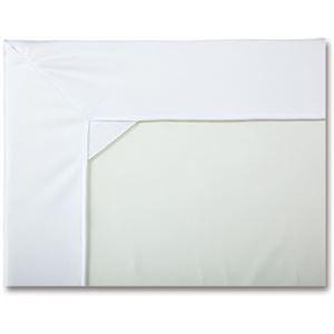 (まとめ)カネモ商事 Lor防水シーツ ボックス型マットカバータイプ ホワイト 1枚【×3セット】 - 拡大画像