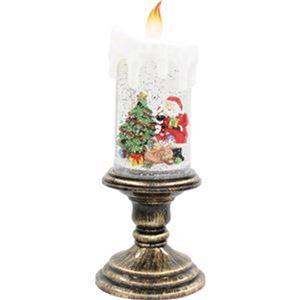 (まとめ)函館クリスマスファクトリーバブル台付LEDキャンドル サンタ 1個【×3セット】 - 拡大画像