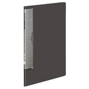 (まとめ)コクヨ クリヤーブック(ウェーブカットポケット・固定式)A4タテ 10ポケット 背幅10mm ダークグレー ラ-T550DM 1セット(10冊)【×3セット】 - 拡大画像