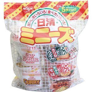 (まとめ)日清食品 ミニーズ[東] 5種 1セット(30食:5食×6パック)【×4セット】 - 拡大画像
