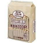 (まとめ)伊勢惣 釜煎り麦茶 業務用 1ケース(800バッグ:100バッグ×8袋)【×3セット】