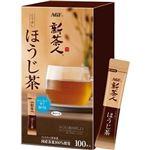 (まとめ)味の素AGF 新茶人インスタントティースティック こうばしほうじ茶 0.8g 1セット(300本:100本×3箱)【×3セット】