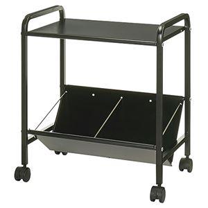 (まとめ)ルガテ 傾斜ファイルワゴン 1段 天板付 ブラック HPF0502-1TBK 1台 組立品 【×3セット】 - 拡大画像