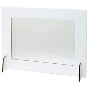(まとめ)フォワード 窓付き飛沫防止パーティション 1パック(5枚) 【×3セット】 - 拡大画像