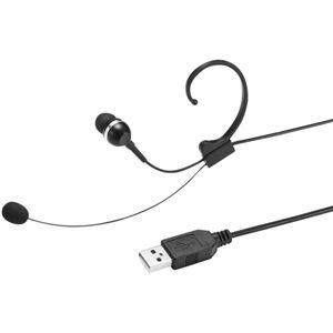 (まとめ)サンワサプライ USBヘッドセット ブラック MM-HSU04BK 1個 【×3セット】 - 拡大画像