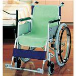 (まとめ)ケアメディックス 車椅子シートカバー グリーン 44020G 1パック(2枚) 【×3セット】
