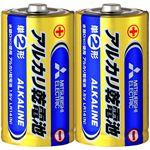 (まとめ)三菱電機 アルカリ乾電池 単2形 LR14N/2S 1セット(20本:2本×10パック) 【×5セット】