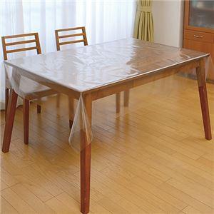 (まとめ)明和グラビア 透明テーブルカバー 1200×2000mm 厚さ0.3mm SKT-1220 1枚 【×5セット】 - 拡大画像