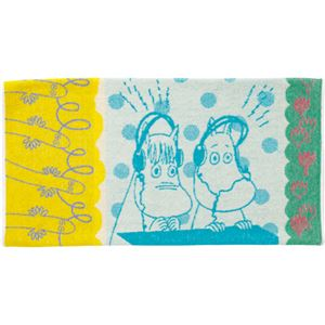 (まとめ)丸眞 タオル枕カバー ムーミン「ラジオの時間」 1枚 【×5セット】 - 拡大画像