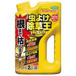 (まとめ)フマキラー 根まで枯らす虫よけ除草王 プレミアム 2L 1本 【×5セット】