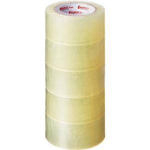 (まとめ)積水化学 エバーセルOPPテープ No.830NEV 50mm×50m 透明 P60XTJ3 1パック(5巻) 【×5セット】