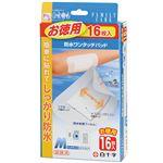 (まとめ)白十字 FC 防水ワンタッチパッド お徳用 Mサイズ 1箱(16枚) 【×5セット】