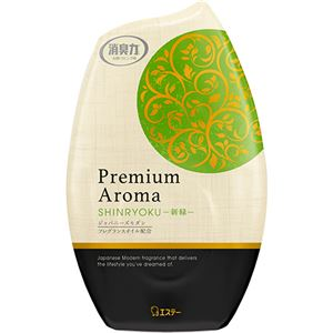 (まとめ)エステー お部屋の消臭力 PremiumAroma 新緑 400ml 1個 【×10セット】 - 拡大画像