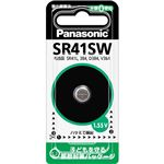(まとめ)パナソニック 酸化銀電池 1.55VSR41SWP 1個 【×10セット】