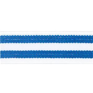 (まとめ)ライオン事務器 ゴムdeパッチバンド 幅15×長さ600mm トリプル ブルー/ブルー GP-152 1個 【×10セット】 - 拡大画像