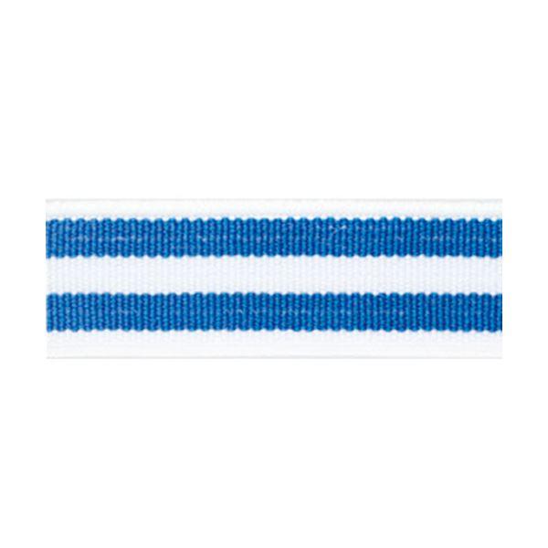 (まとめ)ライオン事務器 ゴムdeパッチバンド 幅15×長さ600mm トリプル ブルー/ブルー GP-152 1個 【×10セット】
