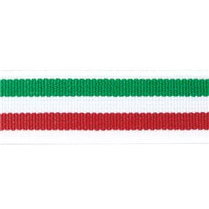 (まとめ)ライオン事務器 ゴムdeパッチバンド 幅15×長さ600mm トリプル レッド/グリーン GP-152 1個 【×10セット】 - 拡大画像