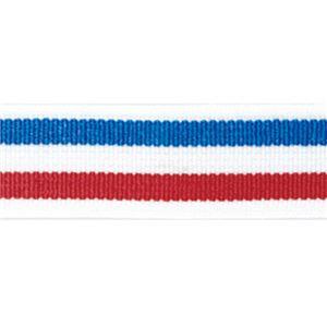 (まとめ)ライオン事務器 ゴムdeパッチバンド 幅15×長さ600mm トリプル レッド/ブルー GP-152 1個 【×10セット】 - 拡大画像
