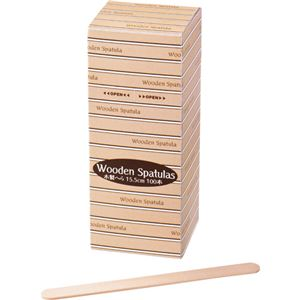 (まとめ)サンナップ ウッドスパチュラ(木ヘラ)Lサイズ SLW100L 1パック(100本) 【×10セット】 - 拡大画像
