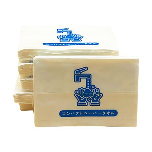 (まとめ)坪野谷紙業 コンパクトペーパータオル 12枚/個 1パック(20個) 【×30セット】
