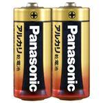 (まとめ)パナソニック アルカリ乾電池 単5形 LR1XJ/2S 1パック(2本) 【×30セット】