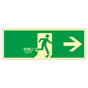 高輝度蓄光避難口標識非常口→蓄光LE-1801