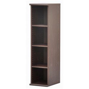 スリムカラーボックス(収納棚/カスタマイズ家具) 4段 【幅30cm×高さ120.3cm】 エイ・アイ・エス 『エシカ』 1230 ブラウン