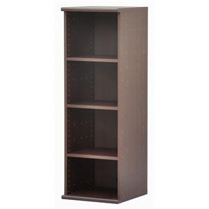 カラーボックス(収納棚/カスタマイズ家具) 4段 【幅40cm×高さ120.3cm】 エイ・アイ・エス 『エシカ』 1240 ブラウン