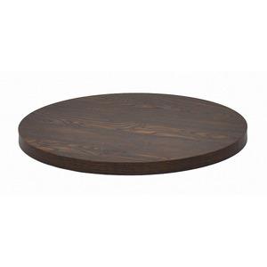 カフェキッツ テーブル用天板 【丸型 ダークブラウン】 直径60cm×高さ3.5cm 〔インテリア家具 什器〕 - 拡大画像