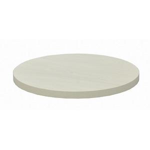 カフェキッツ テーブル用天板 【丸型 ホワイト】 直径60cm×高さ3.5cm 〔インテリア家具 什器〕 - 拡大画像
