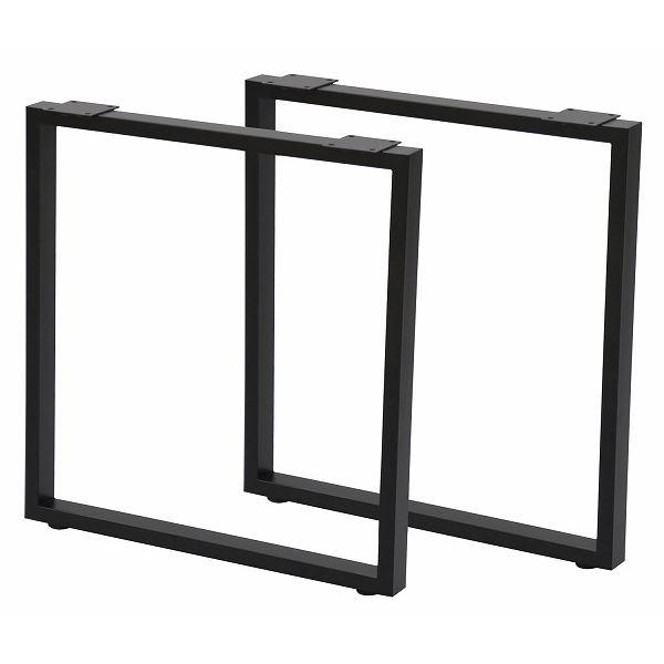 オリジナルのテーブルを作れる「テーブルキッツ テーブル用角枠脚 【ハイタイプ 2本組 ブラック】 スチール製 アジャスター付き 〔DIYキット 什器〕 脚のみ」