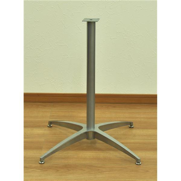 カフェキッツ テーブル用1本脚セット 【シルバー】 アルミ鋳物 ボルト一式付き