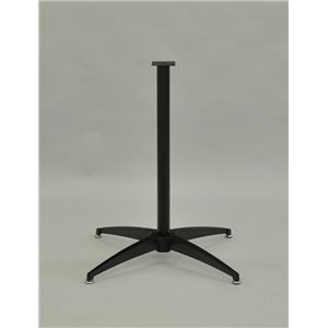 カフェキッツ テーブル用1本脚セット 【ブラック】 アルミ鋳物 ボルト一式付き - 拡大画像