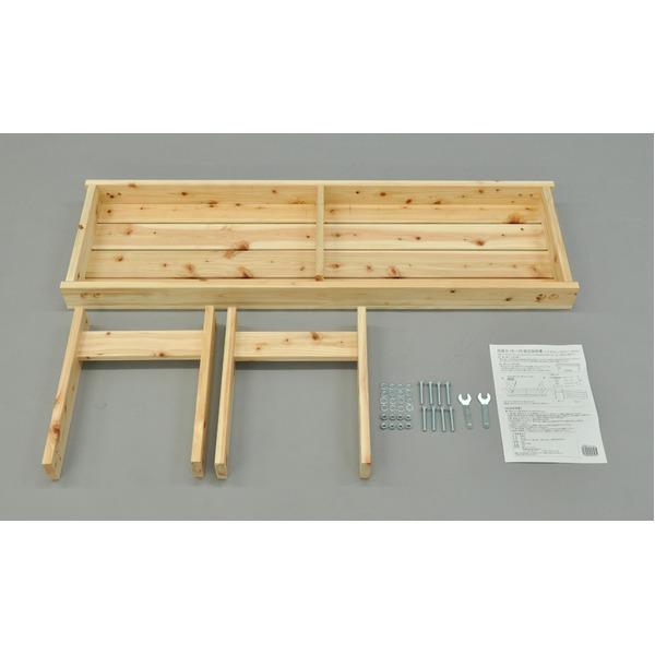 ひのき縁台/ベンチ椅子 【幅120cm】 木製 日本製 ナチュラル 〔玄関 軒先 縁側 ガーデン〕