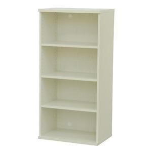 カラーボックス(収納棚/カスタマイズ家具) 4段 幅58.9×高さ120.3cm セレクト1260WH ホワイト - 拡大画像