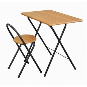 折畳テーブル・チェアセット ブラウン エイ・アイ・エス - 拡大画像