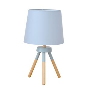 テーブルライト(卓上照明器具) 北欧 ファブリック×天然木 ELUX(エルックス) POOKY ブルー 【電球別売】 - 拡大画像