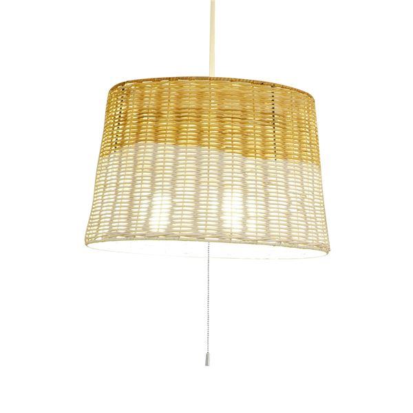 自然素材の温かみを感じる「ラタン製ペンダントライト/照明器具 【3灯】 ELUX(エルックス) PRATTAN 【電球別売】」